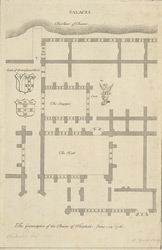 The groundplot of the ruins of Whitehall